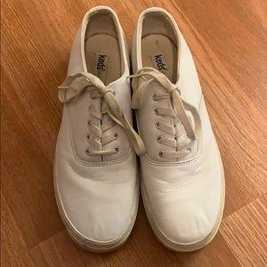 Keds white leather size 10
